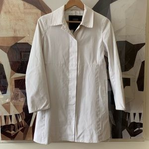 Coach button up walking jacket trench coat white S